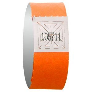 "3/4"" Tyvek Orange Admission Bracelet"