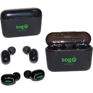 Mini Earbuds With Charging Case