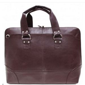Kellin Ladies Zippered Briefcase (Dark Brown)