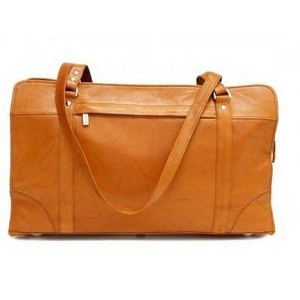 Carlton Ladies Briefcase w/Shoulder Strap (British Tan)