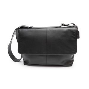 Fredrick Classic Messenger Briefcase (Black Leather)