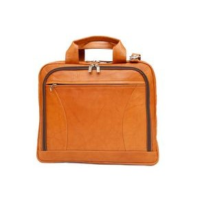 Alaster Laptop Briefcase w/Front Organizer (Tan Leather)