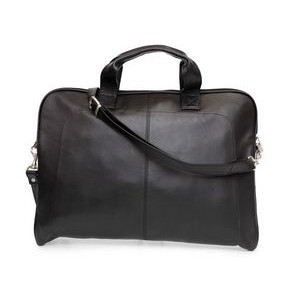 Legend Slim Laptop Case (Black Leather)