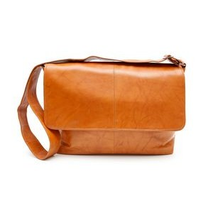 Fredrick Classic Messenger Briefcase (Tan Leather)