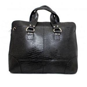 Kellin Ladies Zippered Briefcase (Midnight Black)