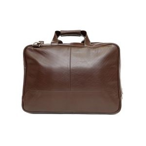 Carson Laptop Briefcase w/Removable Shoulder Strap (Dark Brown Leather)