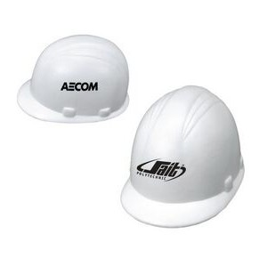 White Hard Hat Stress Reliever