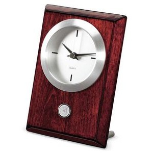 Rosewood Table/Desk Clock - Silver
