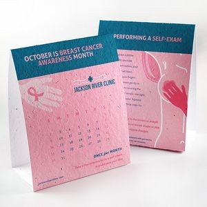 Breast Cancer Awareness Plantable Tent Cards