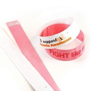 Seed Paper Wristband Slim, 1-Sided